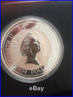 1kg 1995 Silver Kookaburra Coin 999 Solid Silver