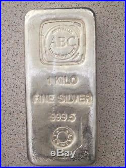 1kg ABC Silver Bullion Bar 999.5 Solid Silver