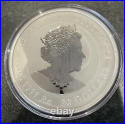 1kg Colour Year Of The Mouse 2020 Solid Silver Lunar Series 3 Coin 1st In Series