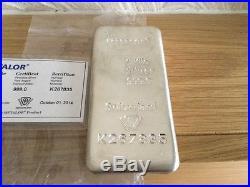 1kg Solid Silver Bar With Cert Metalor