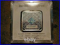 1oz, 5,10,50 Gram Geiger Edelmetalle Square Silver Bar Set