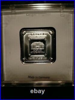 1oz, 5,10,50 Gram Geiger Edelmetalle Square Silver Bars Set