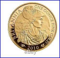 1oz Solid Gold Britannia Uncirculated Coin 2010