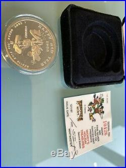 1oz Solid Silver Coin RARE Mickeys Holiday Treasures