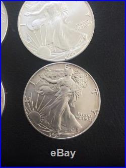 1oz X 10 American Silver Eagles 999 Solid Silver