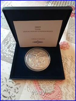 2003 Annual History Commemorative 5oz Solid Silver Antique Coin