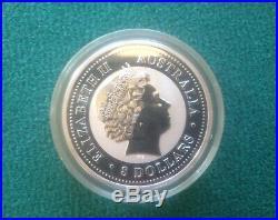2006 AUSTRALIA DOG 5 oz SOLID SILVER BULLION COIN
