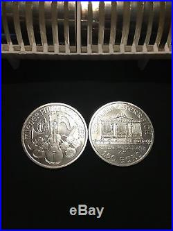 2011 1oz Solid Silver Wiener Philharmonikers Full Tube 20 Coins Sure Safe