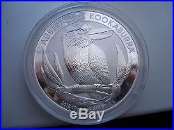 2012 10 TEN oz. 999 Solid Silver Bullion Australian Kookaburra Silver Coin