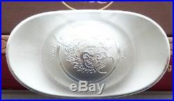 2012 China Lunar Year Dragon 100 Gram Solid. 999 Silver Tael Ingot Bar Box Coa
