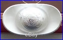 2012 China Lunar Year Dragon Solid. 999 Silver 100 Gram Tael Ingot Bar Box Coa