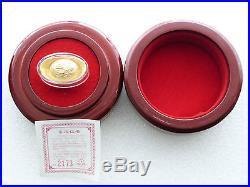 2012 China Lunar Year Dragon Solid Fine. 999 Gold 10 Gram Tael Ingot Bar Box Coa