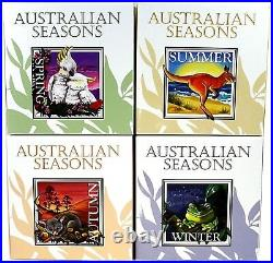 2013 Four Seasons Of Australian 1oz Square Silver Coins