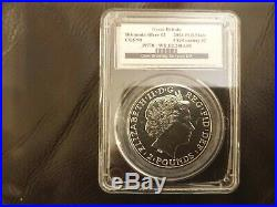 2014 Britannia Mule With Lunar Horse Obverse 1oz Solid Silver Two Pounds