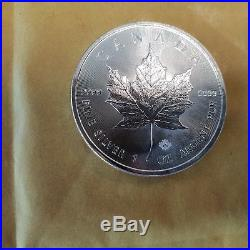 2015 1oz Solid. 9999 Silver Canada Maple Leaf Coins Full Tube 20 Coins Sure Safe