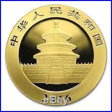 2016 30 gram solid gold chinese panda bullion coin