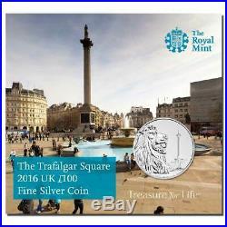2016 Trafalgar Square £100 Silver coin