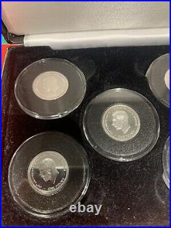 2017 100th Anniversary Of The House Of Windsor Solid Silver Proof £1 Coin Set