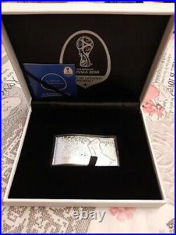 2018 3oz Fifa World Cup Solid Silver Bar / Coin $10 Solomon Islands Laola