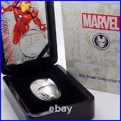 2019 Fiji $5 Marvel Iron Mask 2oz 999 Pure Silver Coin Solid Silver Collectible