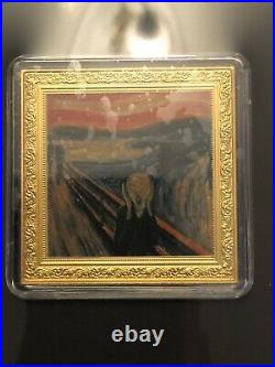 2019 Square 1 NZ Dollar Edvard Munch Scream Commemorative Coin