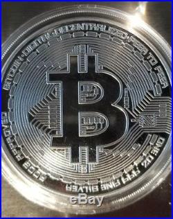 20 2018 Bitcoin Proof 1 oz. 999 fine Solid silver commemorative AOCS 2500