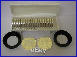 20 Austrian Philharmoniker Solid 1 Troy Oz Silver Coins 2015 + Air-tite Holder
