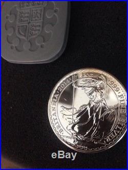 20 Uk Britannia 2014 Pure 999 Solid Silver 1 0z Sealed