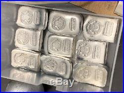 20 X 1 Ounce Chunky (. 999) Silver StackerQueen Bullion Bar Solid Silver Ingot