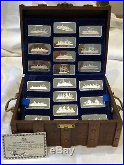 20 x 1 Oz Solid Sterling Silver Great Liners Ingot Set from The Birmingham Min