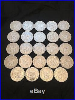 24 x ONE TROY OUNCE APMEX SOLID 999 Fine SILVER COIN