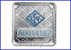 25 X 1 Gram Geiger Square Silver Bar Multicard