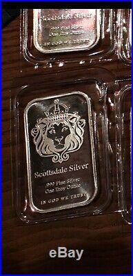 25 X 1oz Pure Solid Silver. 999 Bars