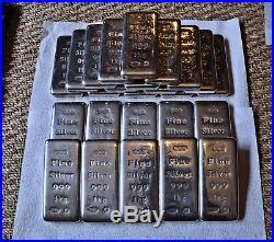 25 kg Fine Silver Ideal Investment 25 x 1 Kg / Kilo Bars Solid Silver Bullion