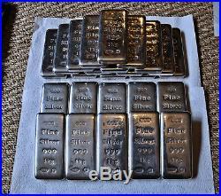 25 kilo, 25 kg Solid Silver Fine Silver Bars CML