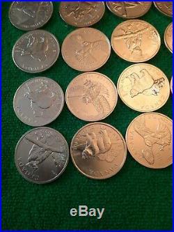 28x Canada wildlife Solid Silver $5 Bullion 1oz Coin