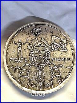 2 Troy Oz. 999 Fine Silver MK BarZ Pirate Stacker Round