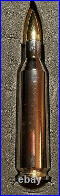 2 ounce 999 Solid Fine Pure Silver 24k Gold Rhodium Enhanced Bullet Proof & COA