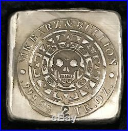 2 tr/oz MK BarZ Aztec Skull Chunky. 999 FS