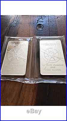 2 x 10 Troy Ounce OPM Provident Solid Fine Silver. 999 Bullion Bar