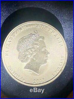 2oz Solid Pure. 999 Silver Bullion Coin Australian 2 Dollars Koala Bears