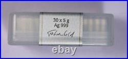 (30) 5 Gram Silver Bar Geiger Edelmetalle In Original Square Series Item#J7234