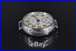 35 mm Rolex Trench WW1 Officers Military Antique Mens Wrist Watch solid silver