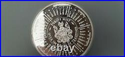378g Pobjoy Mint Milled Edge Solid Silver'Round.' 85mm diameter
