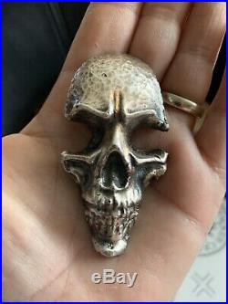 3 Ounce Skull (. 999) Silver Bar Nugget Ingot 3ozt Solid silver