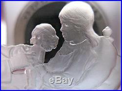 3 Oz. 925 Solid Silver Norman Rockwell Fondest Memories Patient Art Bar + Gold