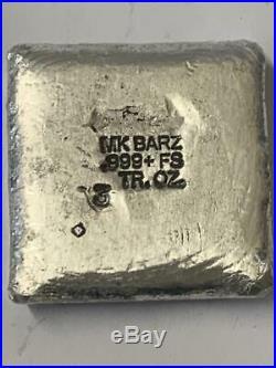 3 Oz. 999 FS MK BarZ Dia De Sorceress Laser Round by Paul Abrams