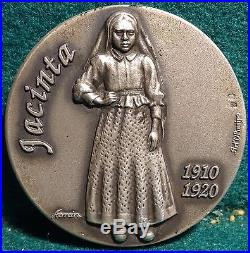 3 Solid Silver Medals In Case Blessed Jacinta, Francisco, Lúcia Of Fatima