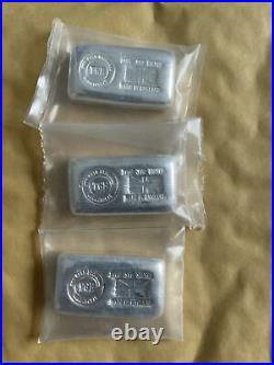 3 X The Gold Exchange 100 Gram Silver Bars 999 Solid Silver