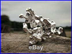 3oz Solid Silver Coral Ore Hand Created (999 Fine Silver)